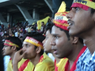 Tense moments for East Bengal supporters. Picture: Soham Samaddar