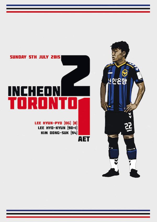 Incheon vs Toronto custom graphic
