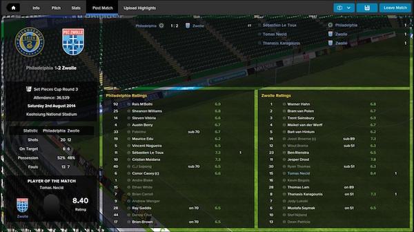 Philadelphia 1-2 Zwolle