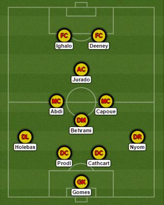 Watford line up