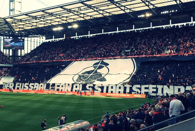 1. FC Köln choreo: The Football Fan As Enemy Of The State