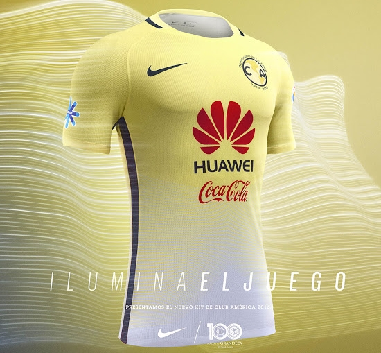 wholesale dealer 24a7b 9c004 Club America Nike home and away kits, 2016/17 - The Set Pieces