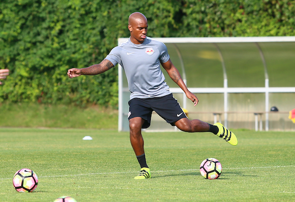 SALZBURG,AUSTRIA,01.SEP.16 - SOCCER - tipico Bundesliga, Red Bull Salzburg, training. Image shows Andre Wisdom (RBS). Photo: GEPA pictures/ Felix Roittner - For editorial use only. Image is free of charge.