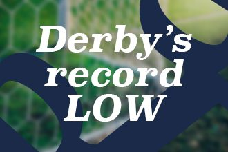 Derby County's record low