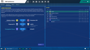 FM20 Project, The Coaches: Episode 7 league table