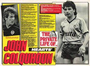 John Colquhoun, Match magazine, 1986