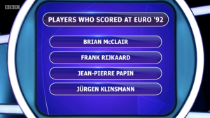 Brian McClair on Pointless