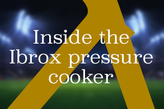 Craig Moore: Inside the Ibrox pressure cooker