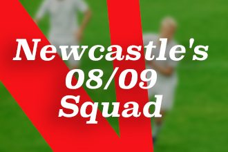 Newcastle's 08/09 squad