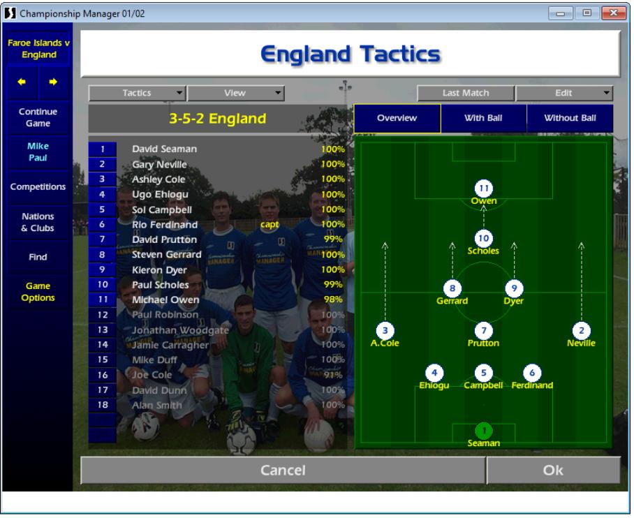 Mike Paul, England tactics CM01/02