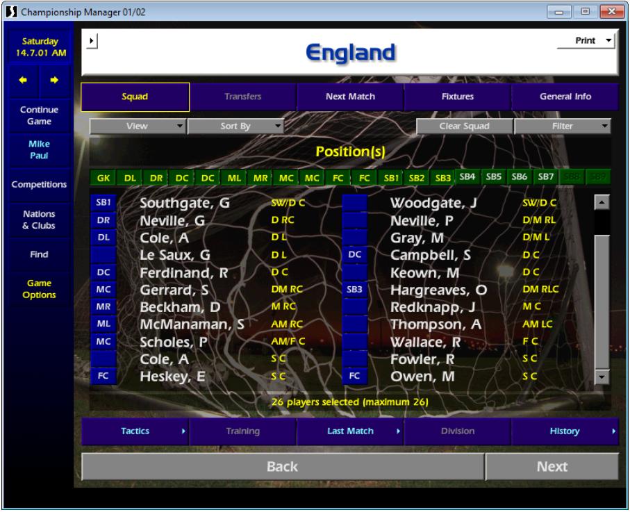 England squad CM01/02 v2