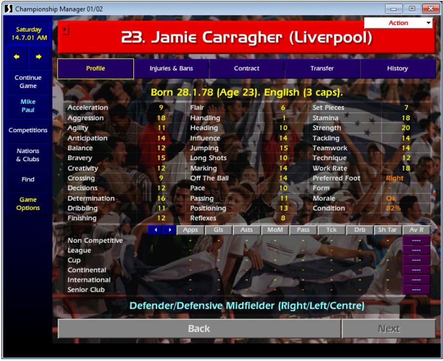 Jamie Carragher CM01/02