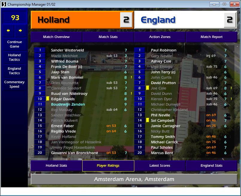 Holland 2 England 2