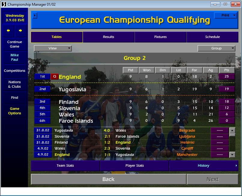 Euro 2004 England qualification CM01/02